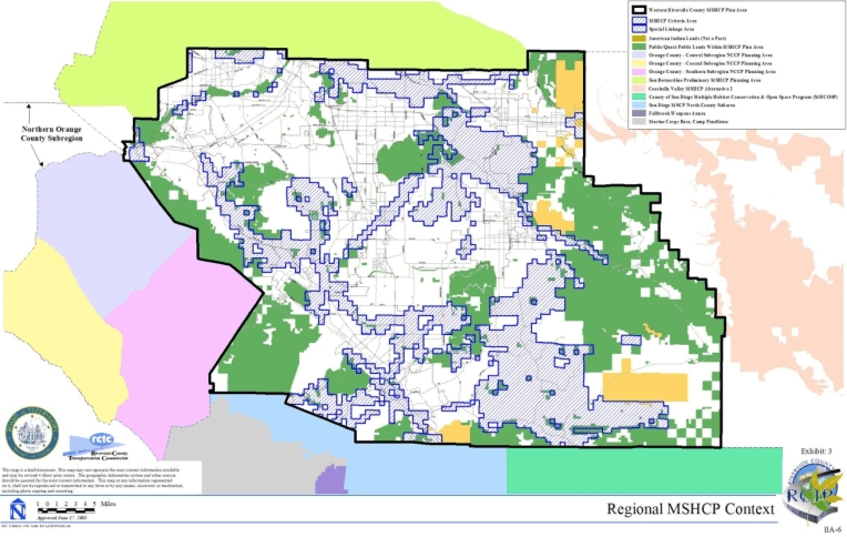 Western Riverside County Multiple Species Habitat Conservation - California map riverside county