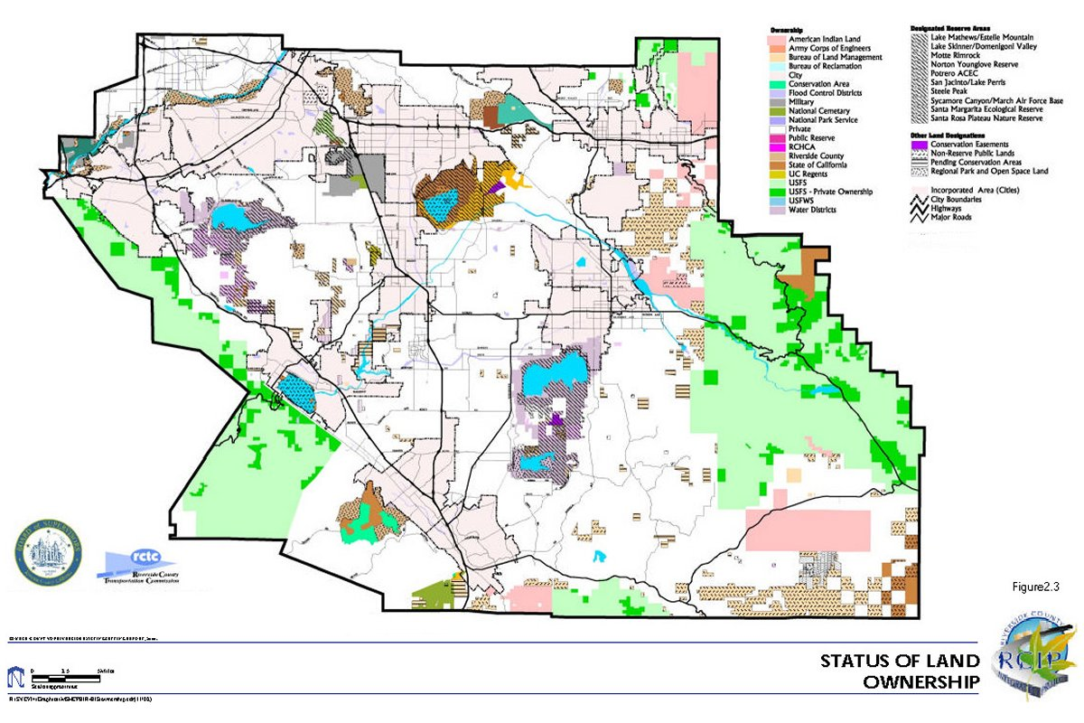 MULTIPLE SPECIES HABITAT CONSERVATION PLAN MSHCP Volume - California map riverside county
