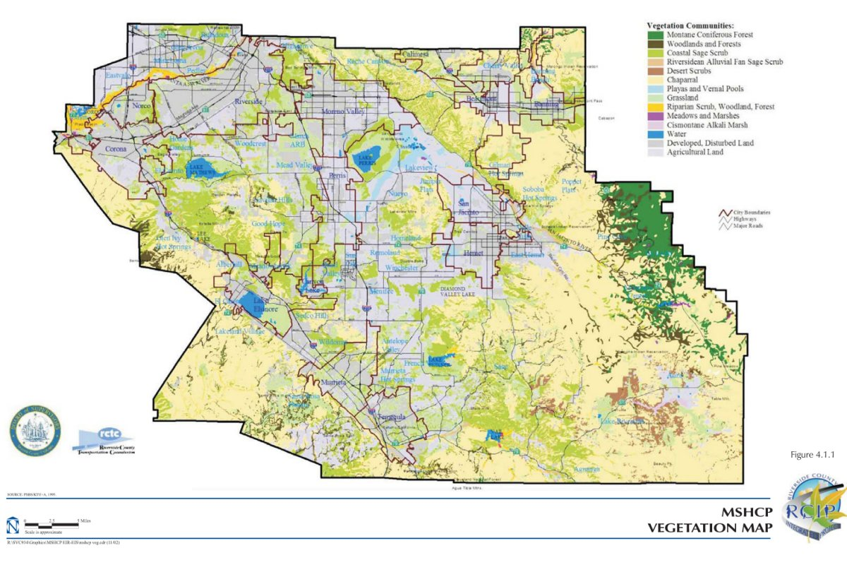 MULTIPLE SPECIES HABITAT CONSERVATION PLAN (MSHCP) - Volume ... on rancho cucamonga map, canyon crest map, downtown l.a. map, moreno valley map, banning map, desert cities map, south coast metro map, fontana map, sacramento map, mission gorge map, bernardino county map, ventura county map, santa clara map, riverside map, palm springs map, downieville map, mt. san antonio map, sonoma co map, brigham city map, imperial valley map,